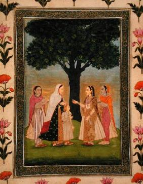 Four Ladies meet by a Tree, from the Small Clive Album