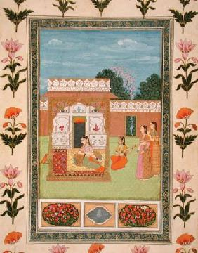 Ladies by a pavilion, from the Small Clive Album