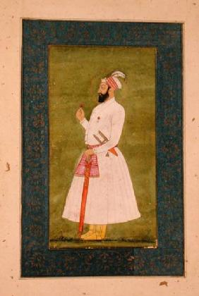 Mughal Emperor Badahur Shah (1707-12) from the Large Clive Album