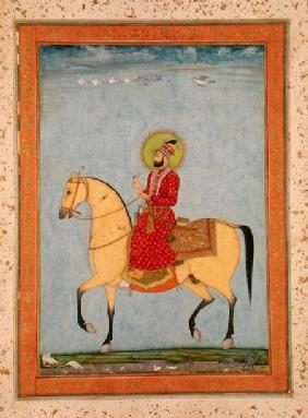 The Mughal Emperor Farrukhsiyar(1683-1719) (r.1713-19), from the Large Clive Album