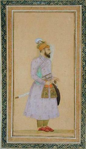 Standing figure of a Mughal prince, from the Small Clive Album
