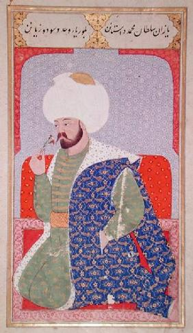 Ms Hazine.1563 Mehmed II (1432-1481), from the 'Semailname'