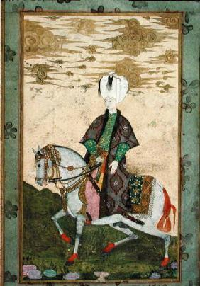 Equestrian portrait of Sultan Osman II (1603-22)