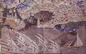The Ottoman Fleet Blocking the Port of Marseille in 1454