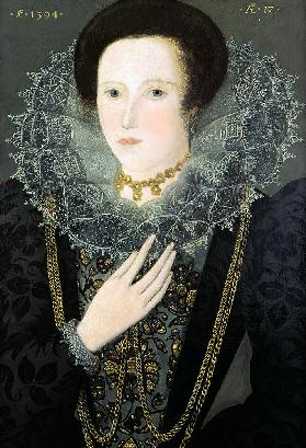 Jane Huddleston (b.1577) at the age of 17