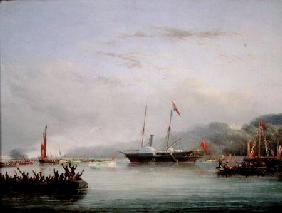 The First Victoria And Albert Yacht off Plymouth