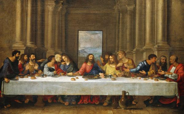 The last Holy Communion. Copia to Leonardo da Vinci.