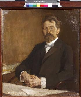 Portrait of the author Anton Chekhov (1860-1904)