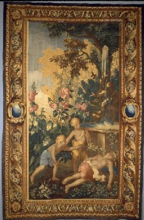 Boys in the garden / Tapestry C18