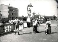 Beggars and Peasants, Chioggia (b/w photo)