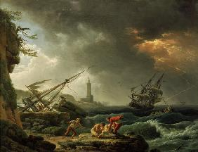 C.-J. Vernet / Storm on the Sea