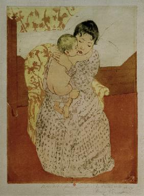 Cassatt / Woman and Child / Etching