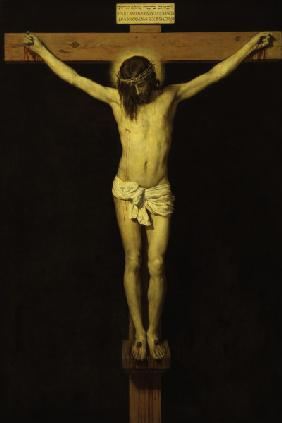 Christ o.th.Cross /Ptg.by Velazques/ C17