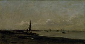 Daubigny / Mouth of the Thames / c. 1870