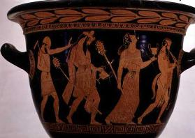 Dionysiac Procession, detail of an Attic red-figure bell-krater, 5th century BC (pottery)