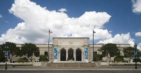 Exterior view of the Detroit Institute of Arts