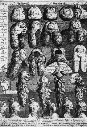 Five Orders of Periwigs / Hogarth / 1761