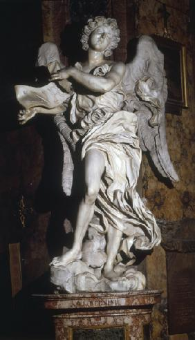 G.L.Bernini / Angel with cross inscript.