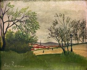 H.Rousseau, Landscape with church spire