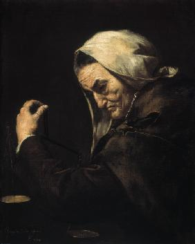 J.De Ribera / The old usurer