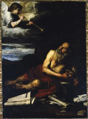 J.de Ribera, Saint Jerome with the Angel