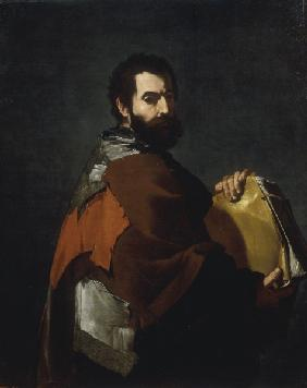 J.de Ribera, The Philosopher / Paint.