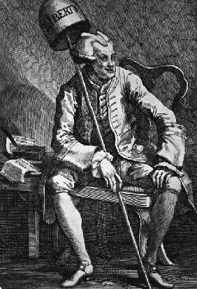 John Wilkes / Etching by Hogarth / 1763