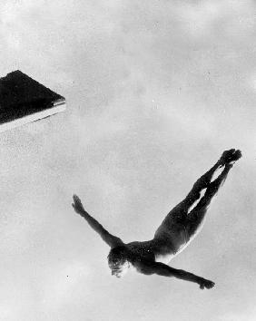 Olympic Games in Helsinki : diving during swimming events