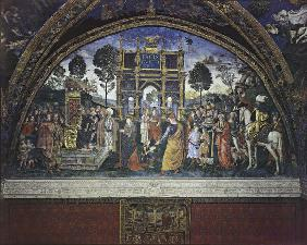 Pinturicchio, Disputation Catherine o.Al