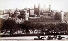 The Tower of London (sepia photo)