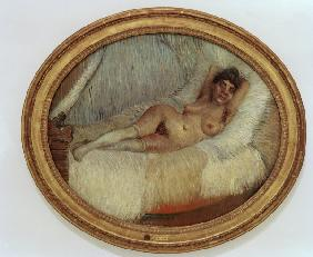 van Gogh / Female nude on bed / 1887