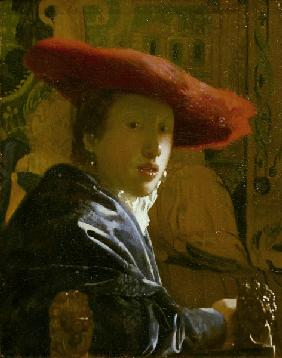 Vermeer / Girl with red hat / c.1665
