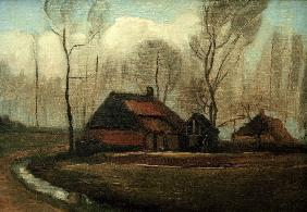 v.Gogh / Farmhouse after the Rain / 1883