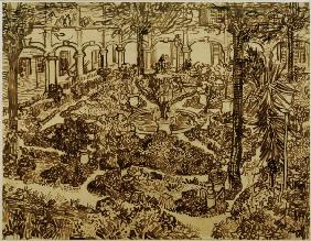 v.Gogh, Courtyard of the Hospital /Draw.