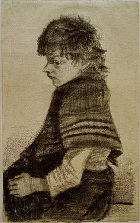 V.van Gogh, Girl with Shawl/Draw./1882/3