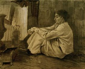 V.van Gogh, Woman Near Stove /Draw./1882