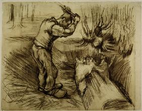V.van Gogh, Woodcutte / Drawing / 1885