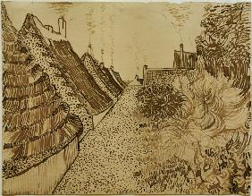 V.v.Gogh, Street in Saintes-Maries/Draw.