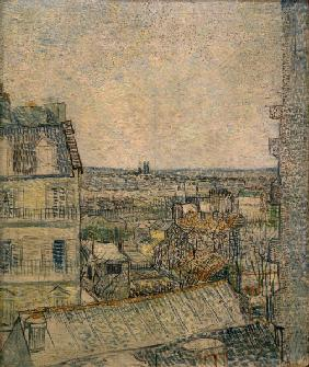 V.v.Gogh, View fr.Window, Paris /Paint.