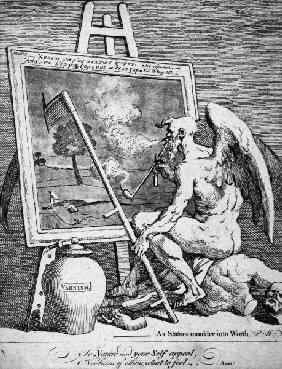 W.Hogarth, Time Smoking a Picture / 1761