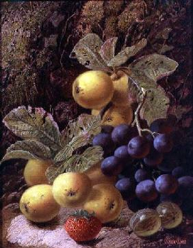 Still Life with Apples, Grapes, Strawberry and Gooseberry
