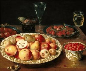 Still Life with Fruit in Wan-Li Porcelain Bowls