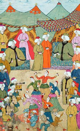 A Dance for the Pleasure of Sultan Ahmet III (1673-1736) from the ''Surnama''