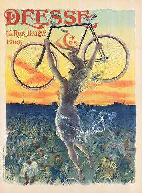 French Art Nouveau Poster for Deesse Bicycles