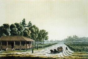 View of Capitol Hill, Washington (colour engraving)