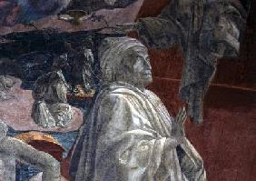 The Flood and Subsidence of the Waters and the Sacrifice and Drunkenness of Noah, detail of a prayin