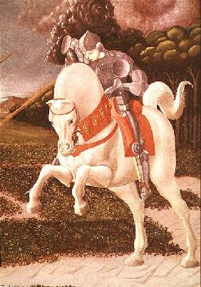 St. George and the Dragon, detail of St. George