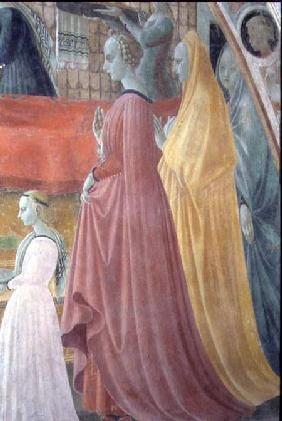 The Nativity of the Virgin, detail depicting the Women of the Donor family, from The Chapel of the A