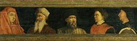 Portraits of Giotto (c.1266-1337) Uccello, Donatello (c.1386-1466) Manetti (c.1405-60) and Brunelle