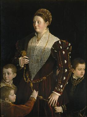 Portrait of Camilla Gonzaga di San Secondo and Her Three Sons